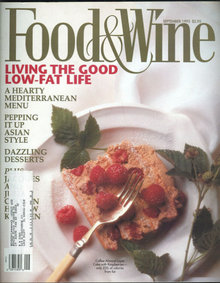 Food & Wine Magazine September 1993 Good Low Fat Life