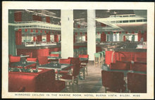 Postcard of Marine Room, Buena Vista Hotel, Biloxi, Mississippi