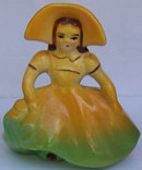 Southern Belle in Bright Yellow Dress Planter