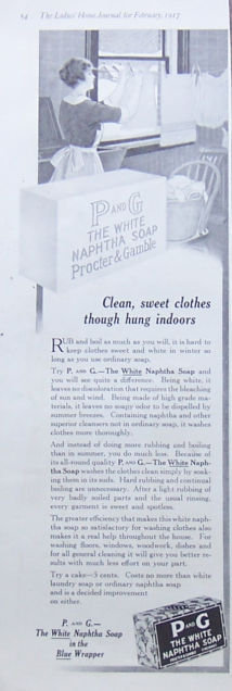 P and G White Naphtha Soap 1917 Magazine Advertisement
