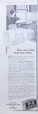 P and G White Naphtha Soap 1917 Magazine Advertisement