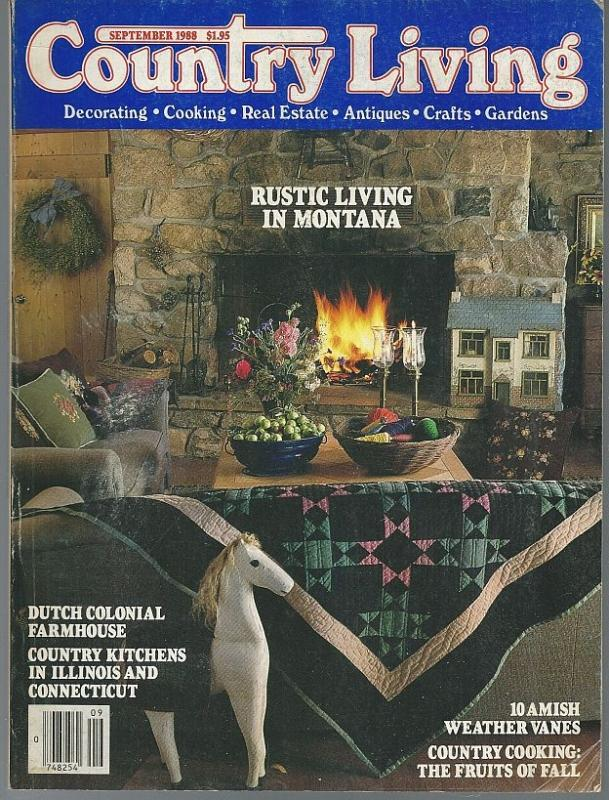 Country Living Magazine September 1988 Rustic Living Montana Cover/Weathervanes