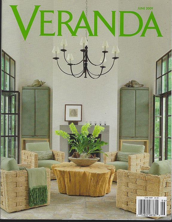 Veranda Magazine June 2009 Dallas Garden Room Cover/Carolyn Rorhm/Raoul Dufy