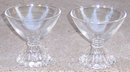 Set of Two Anchor Hocking Bubble Sherbet Glasses