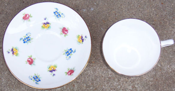 Crown Staffordshire Spring Flowers Cup and Saucer