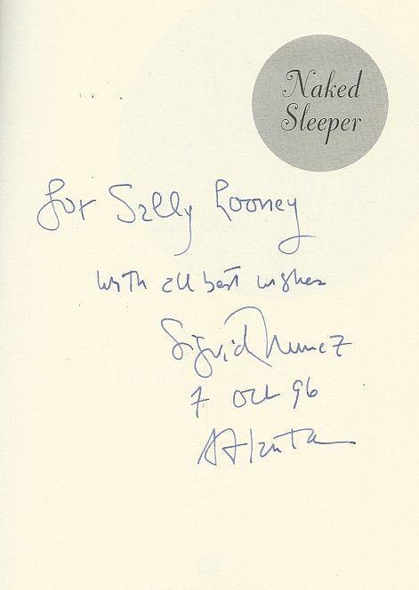 Naked Sleeper Signed by Sigrid Nunez 1996 1st edition with Dust Jacket