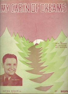 My Cabin of Dreams Featured by Paul Martin 1937 Music