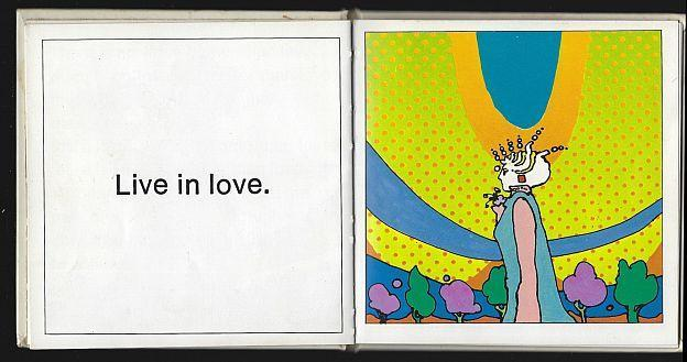 Love Words by Swami Sivananda Illustrated by Peter Max 1970 1st edition