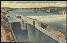 US Government Dam and Ford Bridge Minneapolis, Minn
