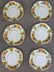 Set of Six John Maddock England Minerva Saucers