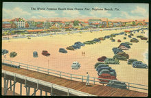 World Famous Beach from Ocean Pier Daytona Beach 1949