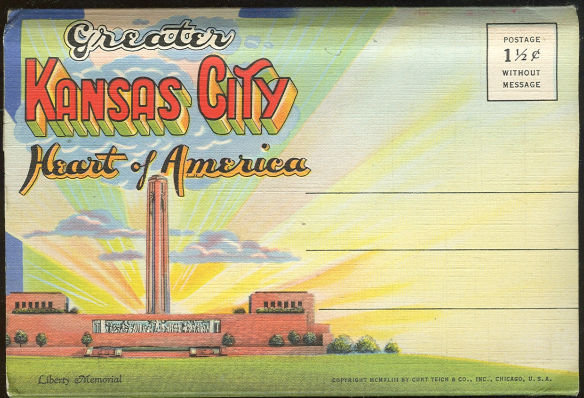 Greater Kansas City Curt Teich 1943 Souvenir Folder