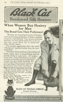 Black Cat Reinforced Silk Hosiery 1917 Advertisement