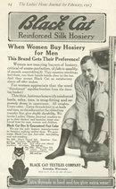 Black Cat Reinforced Silk Hosiery 1917 Advertisement