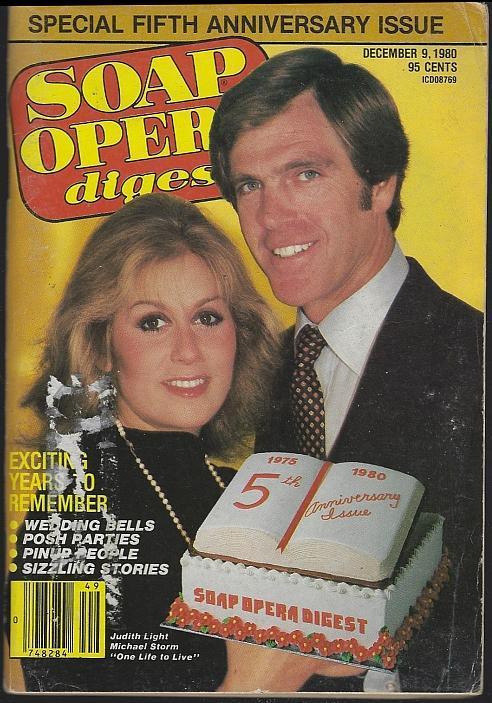 Soap Opera Digest Magazine December 9, 1980 Judith Light and Michael Storm OLTL
