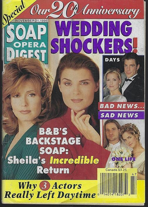 Soap Opera Digest Magazine November 21, 1995 Special 20th Anniversary Issue