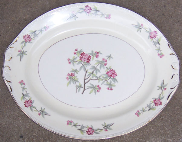 Homer Laughlin China Rhododendron Large Serving Platter