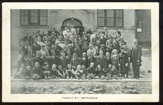 Postcard of the Family at Bethesda School