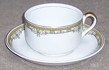 Johnson Bros China Cup and Saucer with Deco Design