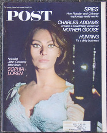 Post Magazine October 21, 1967 Sophie Loren by Cheever
