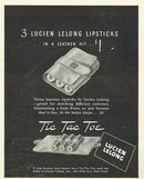 1940 Lucien Lelong Lipsticks Magazine Advertisment