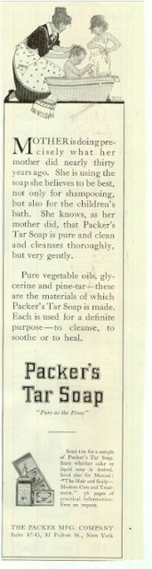 Packer's Tar Soap Cake Mabel Wright 1915 Advertisement