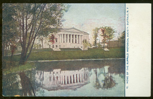 Postcard of Buffalo Historical Society, Buffalo, New York