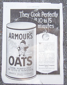 Armour's Rolled Oats 1921 Magazine Advertisment