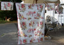Red Kitchen Printed Tablecloth w/ Six Matching Napkins