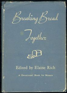 Breaking Bread Together Devotional Book For Women 1958