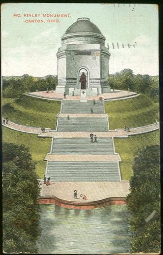 Postcard of McKinley Monument, Canton, Ohio 1909
