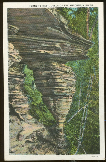 Postcard of Hornet's Nest, Wisconsin Dells on the River