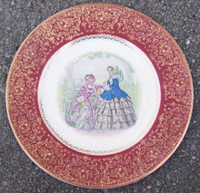 Salem China Century Plate with Godey Ladies Decal