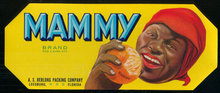 Mammy Brand Leesburg, Florida Citrus Can Label