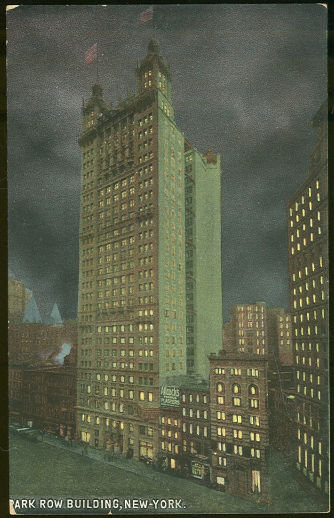 Postcard of Park Row Building, New York City, New York