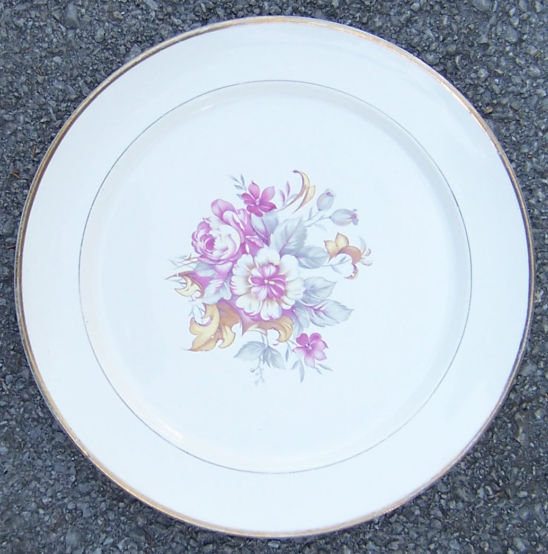 Vintage W.S. George China Derwood Dinner Plate