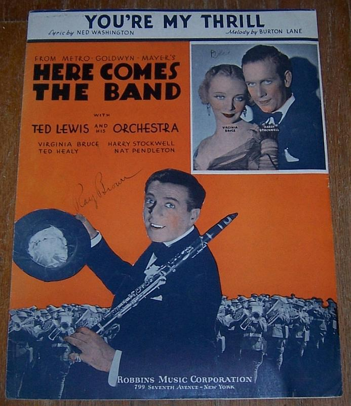 You're My Thrill From Here Comes the Band Starring Virginia Bruce 1935 Music