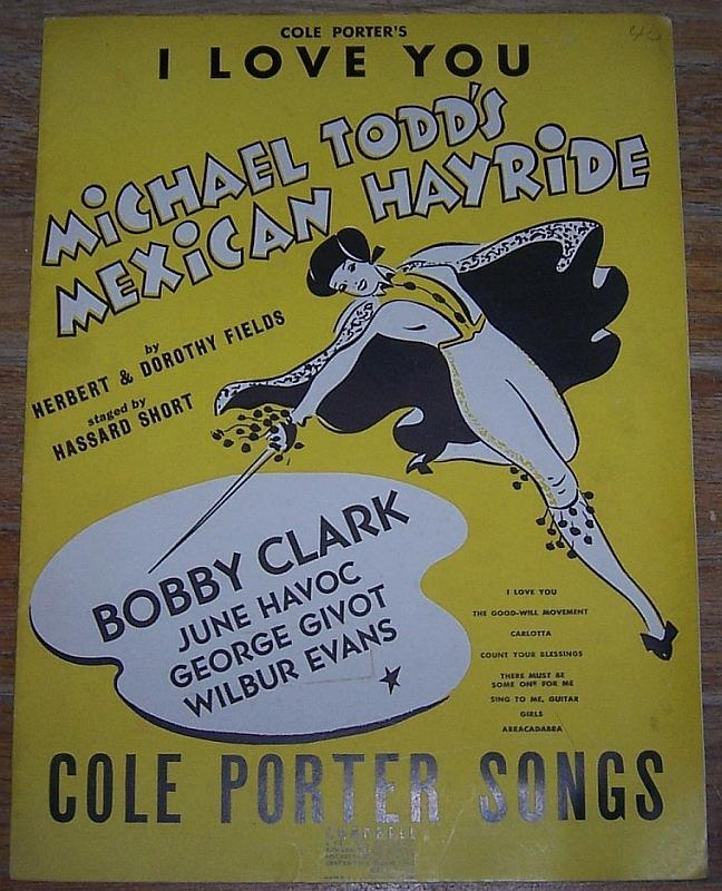 I Love You by Cole Porter from Mexican Hayride 1943 Sheet Music