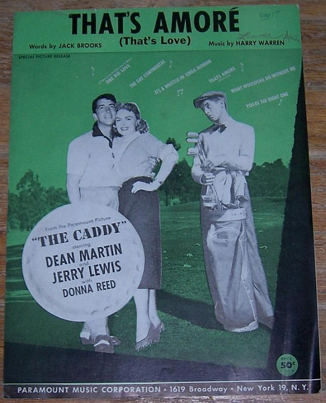 That's Amore (That's Love) From The Caddy starring Dean Martin and Jerry Lewis