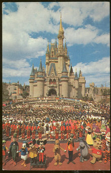 Postcard of Cinderella Castle at Walt Disney World