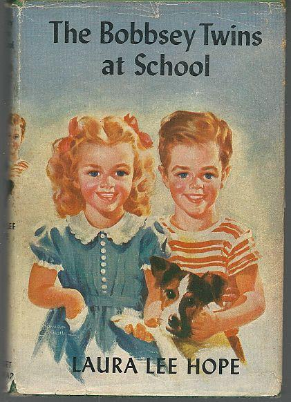 Bobbsey Twins ar School by Laura Lee Hope 1941 with Dust Jacket Illustrated #4