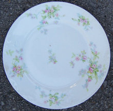 Theodore Haviland Limoges China Plate w/ Pink Flowers