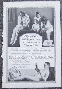 Carter's Knit Underwear 1916 Magazine Advertisement