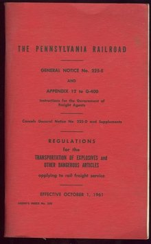 Pennsylvania Railroad Instructions for Freight 1961
