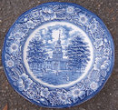 Staffordshire Liberty Blue Independence Hall Plate