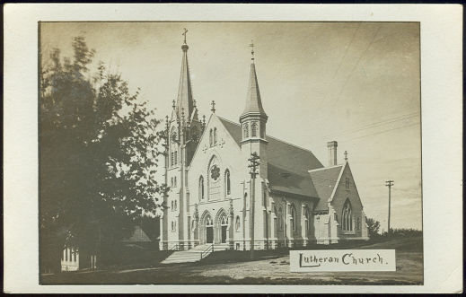 Real Photo Postcard of Lutheran Church