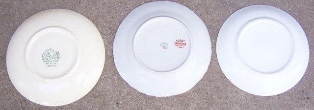 Three Saucers, Homer Laughlin, Richard Ginort, Nippon