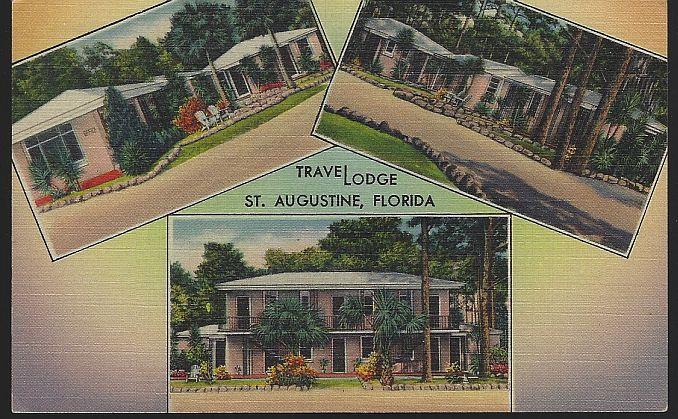 Vintage Unused Postcard of Travelodge, Us Route 1, St. Augustine, Florida