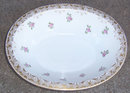 Beautiful Limoges Oval Serving Bowl with Roses w/Gold