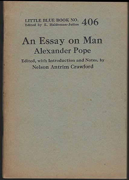 Essay on Man by Alexander Pope Little Blue Book #406 Haldeman-Julius 1927